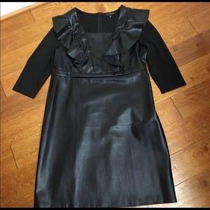 Eloquii Size 16 black leatherette dress